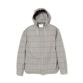 White Mountaineering - WOOL TROPICAL CHECK HOODED SHIRT