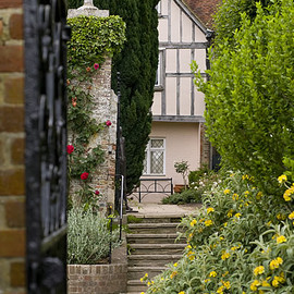 England - Pashley Manor Gardens - Side of the House by Georgianna Lane