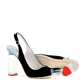SOPHIA WEBSTER - Peron Slingback with Plexi Heart Heel