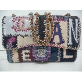 CHANEL - Chanel Patchwork Multi-Color Classic Flap Bag Limited Edition