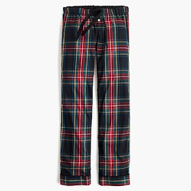 J.CREW - Cotton poplin pajama pant in stewart plaid