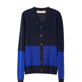 MARNI - Long sleeve cardigan Glass Blu