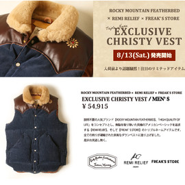 Rocky Mountain Featherbed - Rocky Mountain Featherbed×REMI RELIEF×FREAK'S STORE EXCLUSIVE CHRISTY VEST