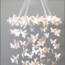 Butterfly chandelier mobile