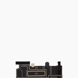 kate spade - all aboard train clutch