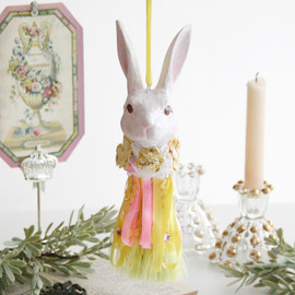 kino - Flower Bunny Tassel (Small) イエロー