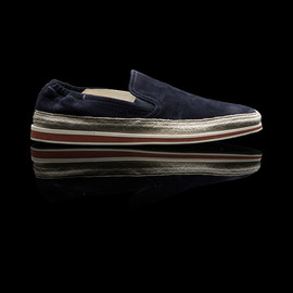 PRADA - suede slippers /navy