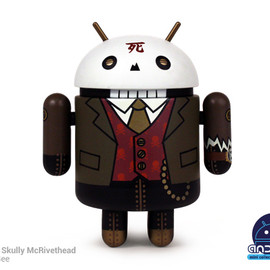 Dead Zebra - Android mini collectibles Series 03 - Professor Skully McRivethed by Huck Gee