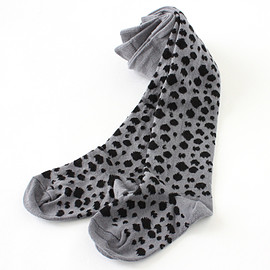 POPUPSHOP - Leopard Tights / gray