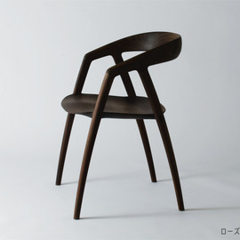 DC09 Dark Wood Dining Chair