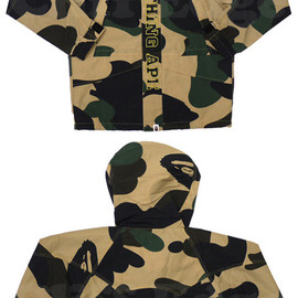 A BATHING APE - ABATHINGAPE(エイプ)GIANT1STCAMOSNOWBOARDジャケット【新品】YELLOWCAMO225-000147-068[1930-141-003]-【smtb-TD】【yokohama】