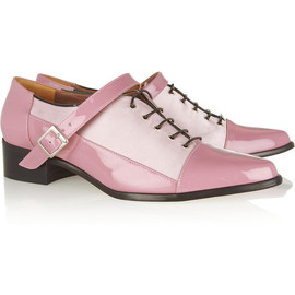 CREATURES OF THE WIND - Candy patent-leather and satin brogues