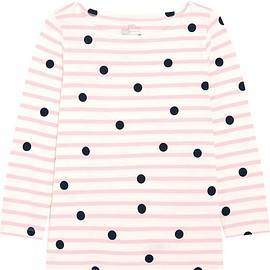 J.Crew - Printed striped cotton-jersey top