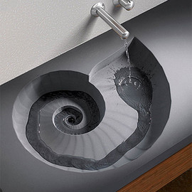 HighTech Design Products - Ammonite Washbasin