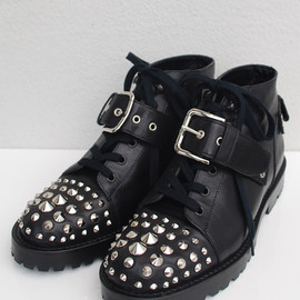 Unsqueaky - Studs Lace up Boots (calf)