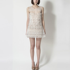 simone rocha - Simone Rocha - Plastic Trapped Lace Dress