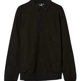 FRED PERRY - Raf Simons Flat Knit Collar Sweatshirt
