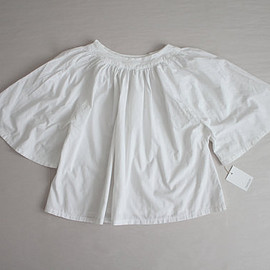 white cotton blouse / trapeze blouse / 60s blouse