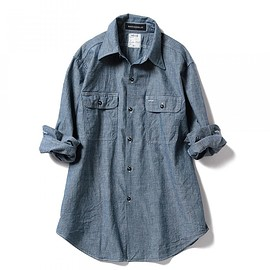 MADISONBLUE - MADISONBLUE / HAMPTON Chambray Shirt One Wash