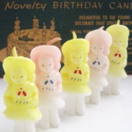 "Gurley Novelty Co. - 1940-50's VINTAGE GURLEY ""Sailor Girls"" BIRTHDAY CANDLES with ORIGINAL BOX!!"