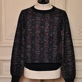 "DRIES VAN NOTEN - M.K.SWEATER ""TALES"" col.NAV[9718]"