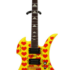 "hide 1/8scale Guitar Collection Burny MG-X""イエローハート"""