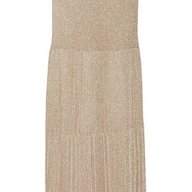 Missoni - Pleated metallic crochet-knit maxi skirt