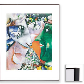 Marc Chagall - I and the Village (Dark Brown Frame)