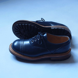 The Old Curiosity Shop x Quilp by Tricker's - Men's Navy Blue Aniline Oxford
