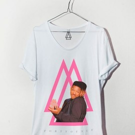 forty ounce - FRESH PRINCE TEE IN WHITE