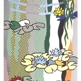 Roy Lichtenstein - Water Lilies with Japanese Bridge Art