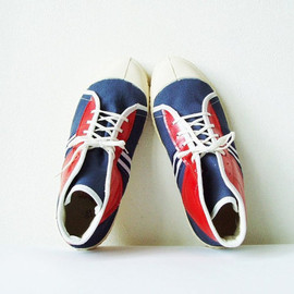 Soviet Sneakers Vintage UNUSED Mens Footwear Soviet USSR Spring Red Blue Sport Leisure textile shoes Shabby chic Hipster Size 42  US men 8,5