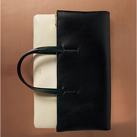 CELINE - Folded cabas in calfskin black
