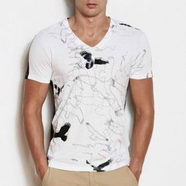 アルマーニ・エクスチェンジ(ARMANI EXCHANGE) - GRAPHIC BIRD CONTRAST TEE 1