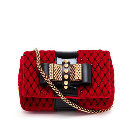 CHRISTIAN LOUBOUTIN - Sweet Charity Quilted Velvet Bag