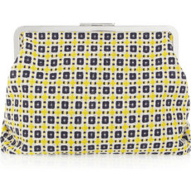 MARNI - Checked woven clutch