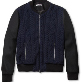Carven - Cable-Knit Wool Bomber Jacket