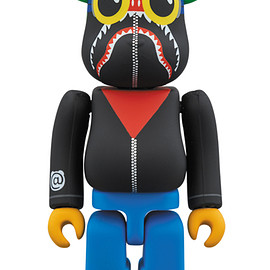 MEDICOM TOY - A BATHING APE(R) × HEBRU BRANTLEY × SOCIAL STATUS BE@RBRICK 100%