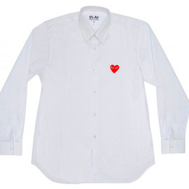 PLAY COMME des GARCONS - Red Play Men's Shirt #White)