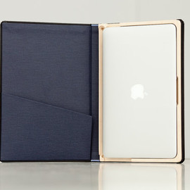 PadandQuill - The Cartella for MacBook Air Moleskine hard Case-11 inch Black/Deep Sea Blue Ships EXPRESS Mail