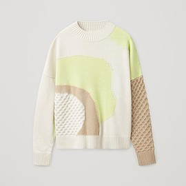 COS - CONTRAST-KNIT JUMPER
