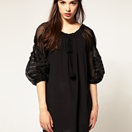 TBA - Exclusive to ASOS Organza Sleeve Silk Gypsy Dress