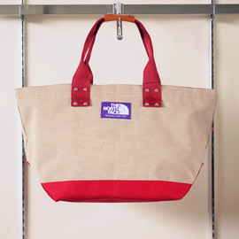 THE NORTH FACE PURPLE LABEL - Tote Bag #TAN×RED