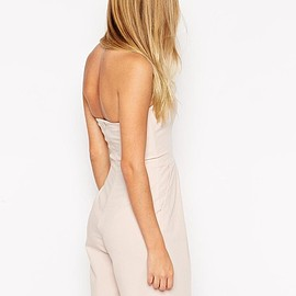 ASOS - Bandeau Pleat Front Playsuit