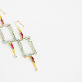 Ostara - Square Dangle Earrings/Light Azore/Siam