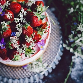 sweets - No-bake strawberry cheesecake