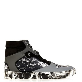 BALENCIAGA - Marble-effect high-top trainers