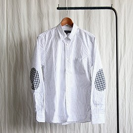COMME des GARCONS HOMME - STRIPE SHIRT #white×navy×charcoal