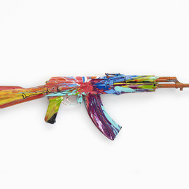 Damien Hirst - Spin AK47 for Peace Day