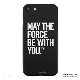 UNiCASE - 【iPhone7 ケース】STAR WARS / MATTE BLACK HARD CASE for iPhone7(Typography)